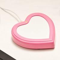 USB нагревател за чаша сърце