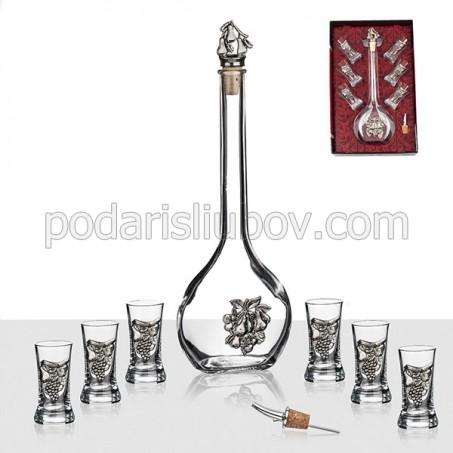 Сет за ракия и 6 чаши
