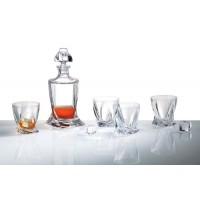 "Луксозен сет за уиски с гарафа и 6бр. чаши ""Куадро"""