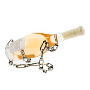 Метална поставка за вино Верига, 22.5см