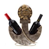 Метална поставка за вино Котва, 39.5см
