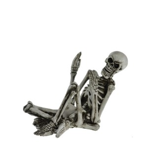 Поставка за бутилка вино Скелет