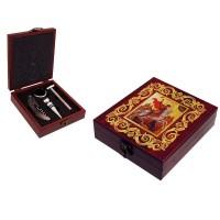 Аксесоари за вино в дървена кутия, Свети Георги