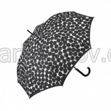 """Дамски чадър """"Черни кръгове"""" - Pierre Cardin"""