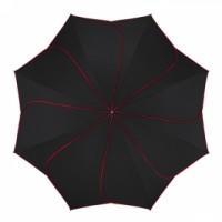 """""""Черен с червени кантове"""" чадър, дамски - Pierre Cardin"""