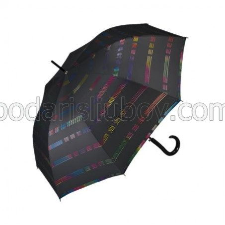 """Дамски чадър """"Цветни линии"""" - Pierre Cardin"""