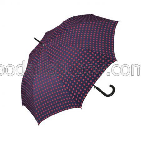 """Дамски чадър """"Червени квадрати"""" - Pierre Cardin"""