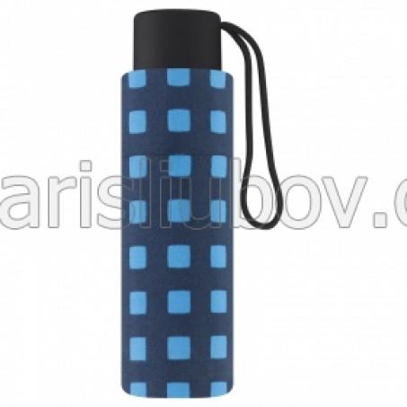 """Дамски малък чадър """"Сини Квадрати"""" - Pierre Cardin"""