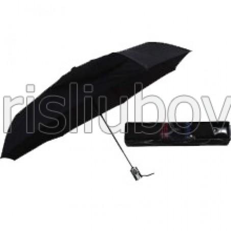 Мъжки чадър с права сива дръжка
