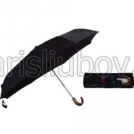Мъжки чадър със завита дръжка