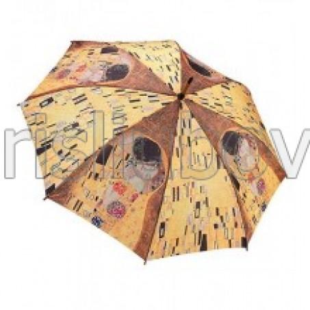"""Прав чадър """"Целувката на Климт"""""""