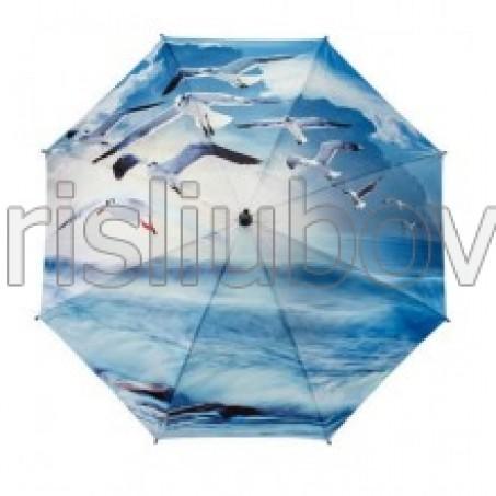 """Прав чадър """"Чайки над океана"""""""
