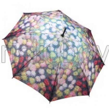 """Прав чадър """"Хризантеми"""""""