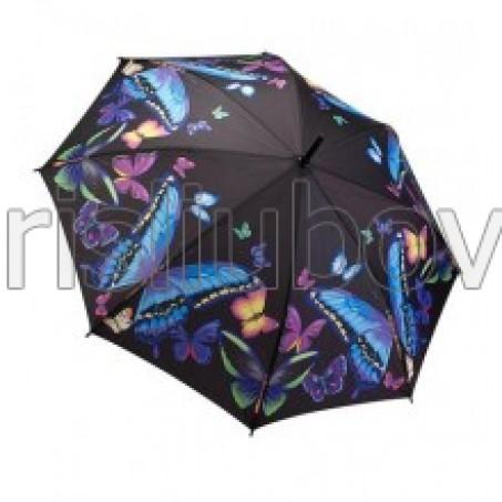"""Прав чадър """"Нощни пеперуди"""""""