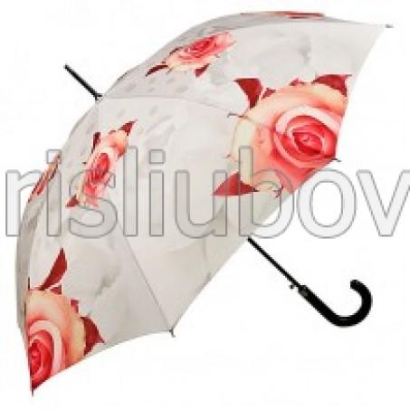 """Прав чадър """"Рози, крем"""""""