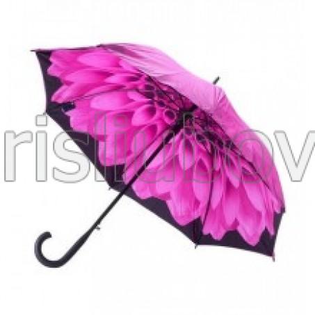 """Прав чадър """"Розова Далия"""""""