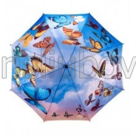 """Прав чадър """"Танцуващи пеперуди"""""""
