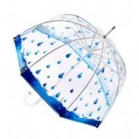 """Прозрачен чадър - балон """"Дъждовни дни"""""""