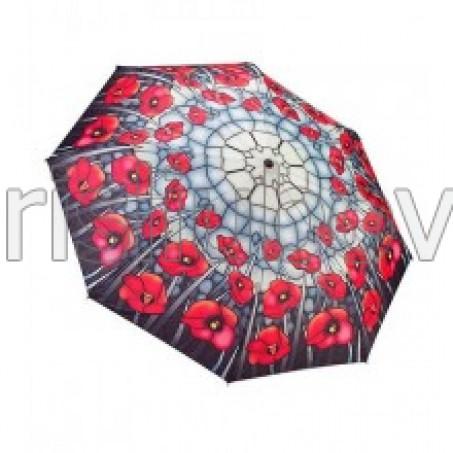 """Сгъваем чадър """"Макове, стъклопис"""""""