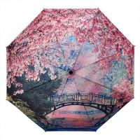 """Сгъваем дамски чадър """"Цъфтящи череши"""""""