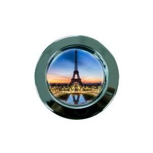 Малка метална чиния с текст и снимка, d 10,5см