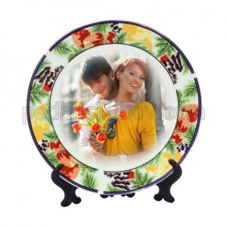 Пъстра чиния с Ваша снимка, d 20см