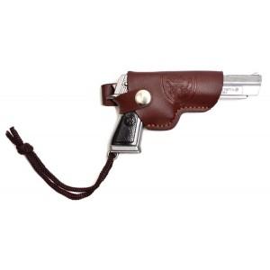 Ключодържател пистолет с кожен калъф, класически модел