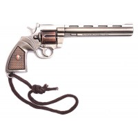 Ключодържател револвер с кожен кобур
