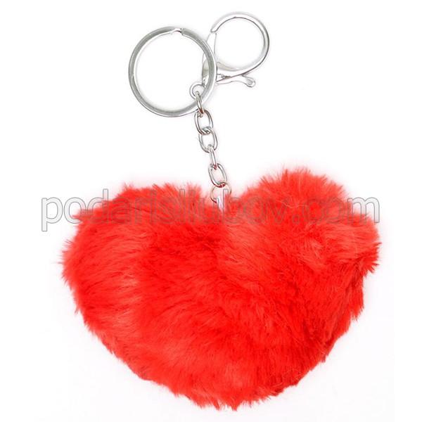 Ключодържател пухче - Сърце