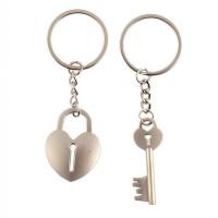 Комплект ключодържатели - сърце катинар и ключ