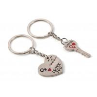 Сет от два ключодържателя - сърце и ключ