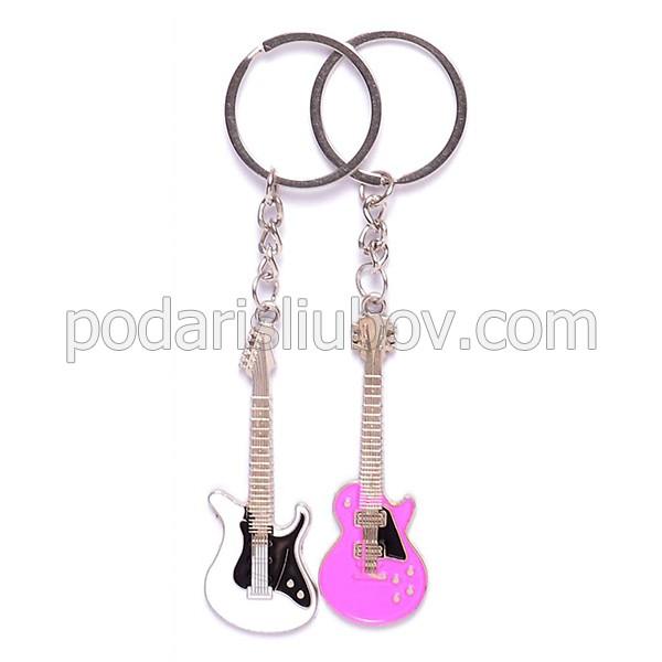 Комплект от два ключодържателя - рок китари