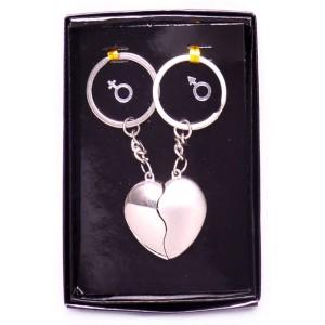 Комплект от два ключодържателя - сърца, две в едно