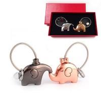 Сет ключодържатели Целуващи се слончета, без или с кутия