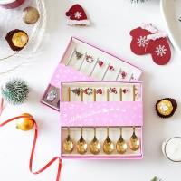 Златна Коледа, сет 6бр. лъжички за чай и кафе