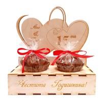 Дървен сет за Годишнина от сватба, сладки мъфини