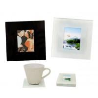 Стъклени подложки за чаши с място за снимки