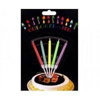 Свещички с цветен пламък за рожден ден