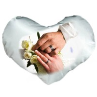 Възглавничка с Ваша снимка, сърце, 30см