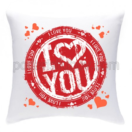 Възглавничка с печат I LOVE YOU
