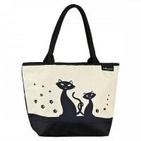 Чанта черни котки