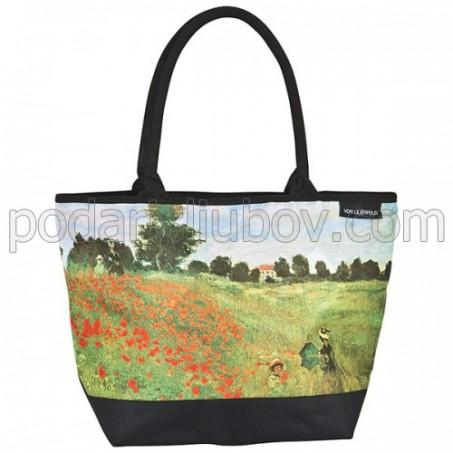 Чанта, поле с макове