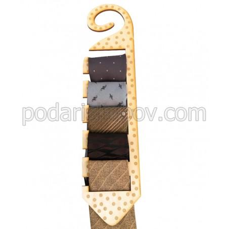Дървена стойка за вратовръзки
