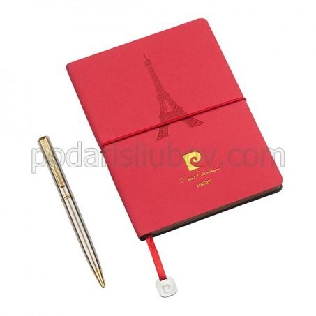 Комплект тефтер и химикал Pierre Cardin, червен цвят