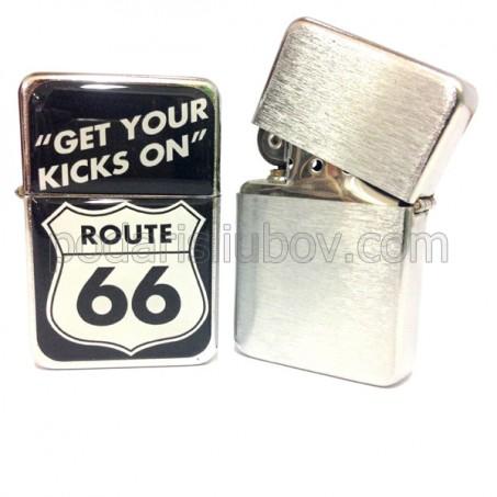 Запалка Tristar, Route 66, сребрист цвят