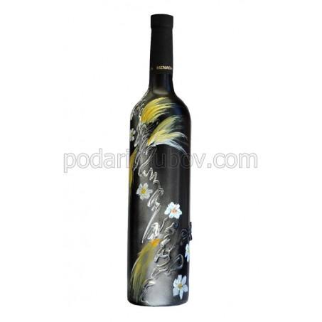 """Арт бутилка с червено вино """"Феерия"""""""