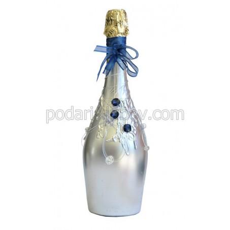 """Арт бутилка с шампанско """"Екстраваганца"""""""