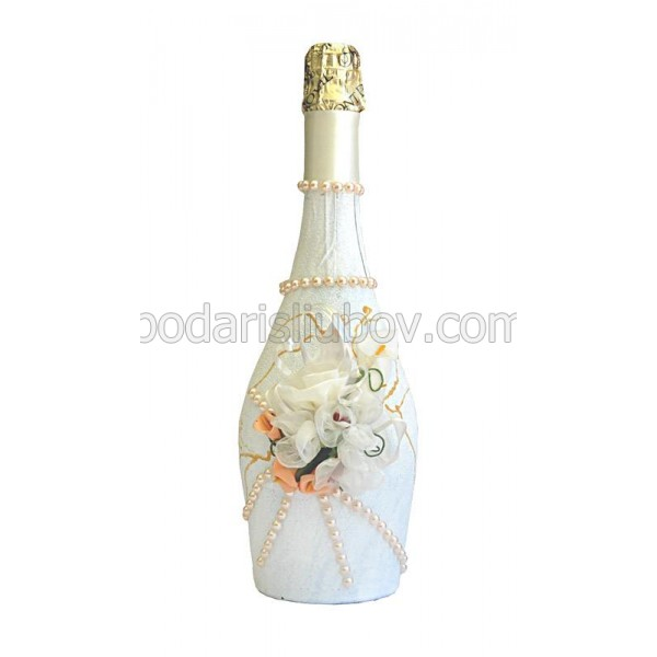 """Арт бутилка с шампанско """"Екзотик"""""""