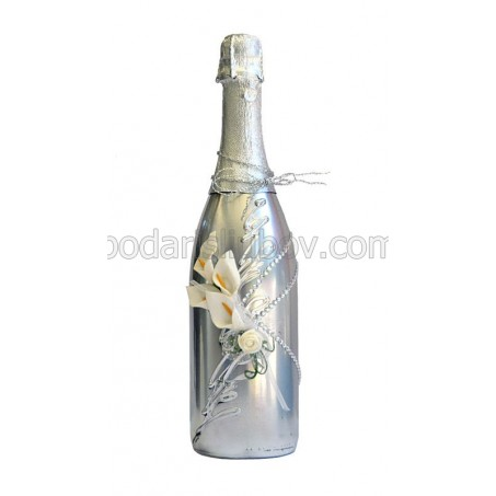 """Арт бутилка с шампанско """"Изящество"""""""