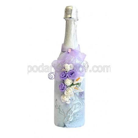 """Арт бутилка с шампанско """"Милейди"""""""